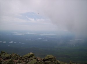 The view from Katahdin when it's clear, minutes later