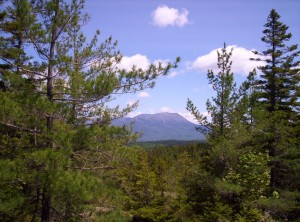 The view from atop the small mountain, back toward Katahdin