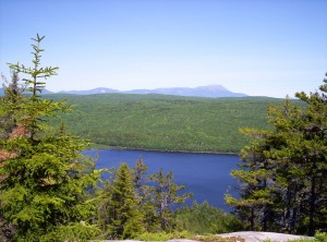 Another view back to Katahdin from above a beautiful lake