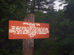 There are no places to obtain supplies or get help until Abol Bridge 100 miles north.  Do not attempt this section unless you have a minimum of 10 days supplies and are fully equipped.  This is the longest wilderness section of the entire A.T. and its difficulty should not be underestimated.  Good hiking!  MATC