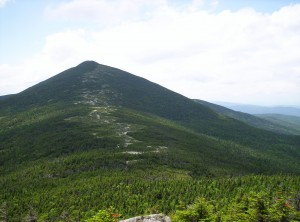 Saddle Point, the trail landmark omitted from the Companion and Maine A.T. maps