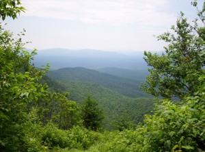 A view from the side of Moody Mountain