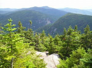 A view toward what I believe is the Notch prior to descending from Speck Pond