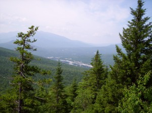 A view from on high toward Gorham, my next big stopping point