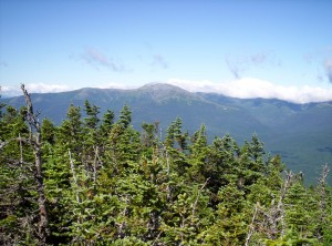 A view from near one of the peaks of Carter Mountain