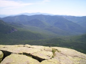 A valley inside the White Mountains, seen from Mount Garfield