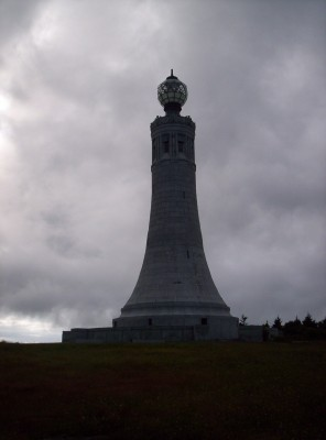 The salt-shaker-shaped war memorial atop Mount Greylock