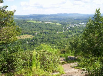 The view from Cat Rocks along the road toward Pawling