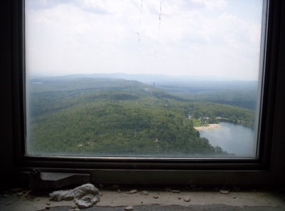 A view to the south along the Appalachian Trail, from the top of the High Point Monument