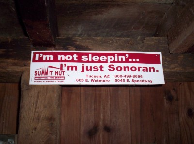I'm not sleeping...I'm just Sonoran.