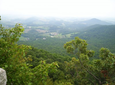 The view from The Pinnacle, 5.3 miles south of Eckville Shelter