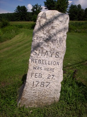 A closer view of the Shays' Rebellion monument