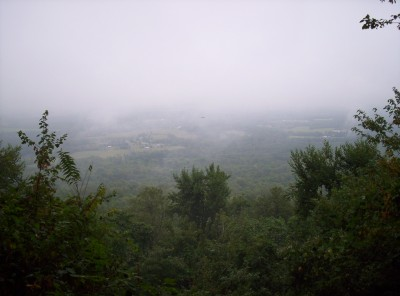A foggy day above Cumberland Valley