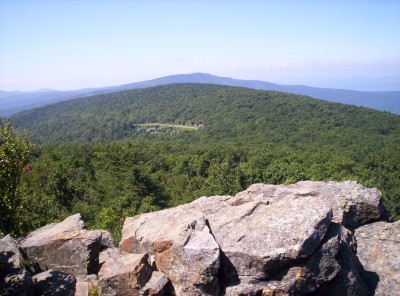 Mid-day view of Skyline Drive in Shenandoah NP
