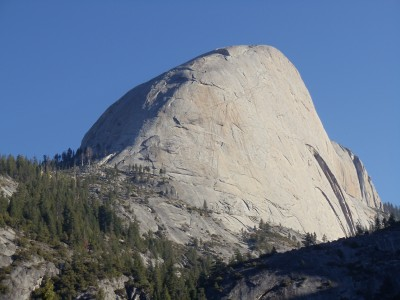 The back side of Half Dome
