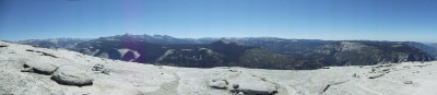 Panorama view atop the Half Dome plateau