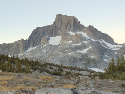 Banner Peak in the lingering stages of dawn