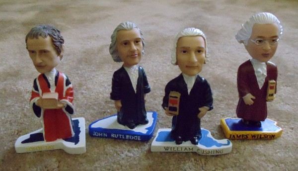 John Jay, John Rutledge, William Cushing, James Wilson bobbleheads