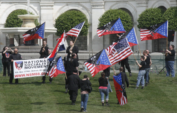 A Neo-Nazi rally on the US Capitol grounds