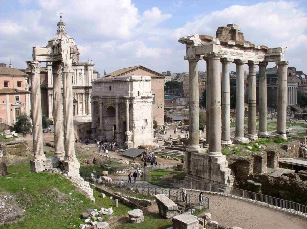 Modern ruins of the Roman Forum
